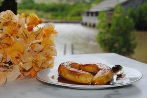 La Case du Pecheur Restaurant Dessert Banana Blaze